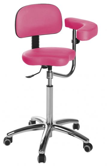 Ecopostural saddle stool with chromium-plated base Ecopostural S5644