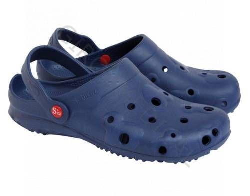 Navy blue men's Globule clogs