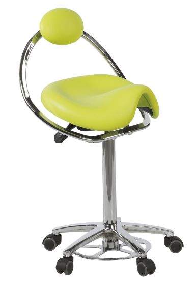 Ecopostural DERBY stool with chromium-plated base and backrest Ecopostural S5672-AP