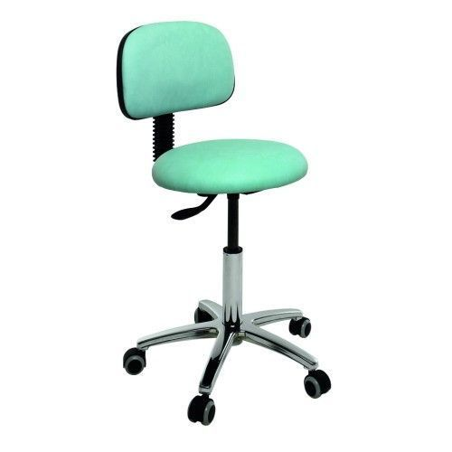 Ecopostural swivel stool with chromium-plated base and backrest Ecopostural S4609