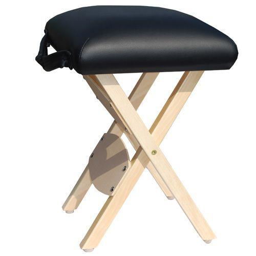 Folding wooden stool