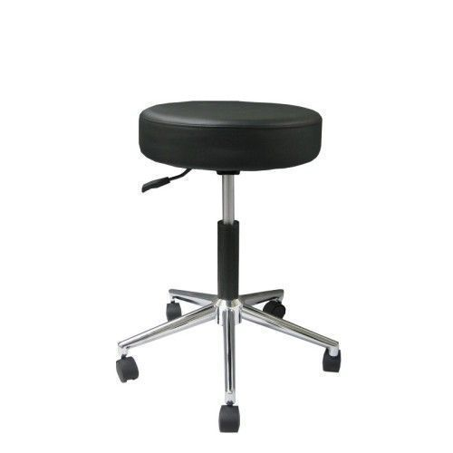 Standard swivel stool with chromium-plated base