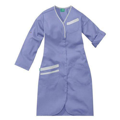 Blouse médicale femme manches longues NOMIA 8MLC00PC Parme/Blanc