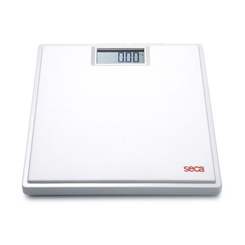 Pèse personne électronique à revêtement caoutchouc Seca clara 803 blanc