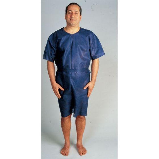 Chemise d'opéré bleue opaque en polypropylène PROFIL SHIRT LCH sachet de 10 chemises