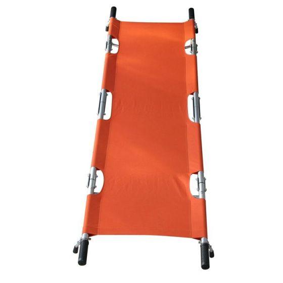Folding full-length stretcher