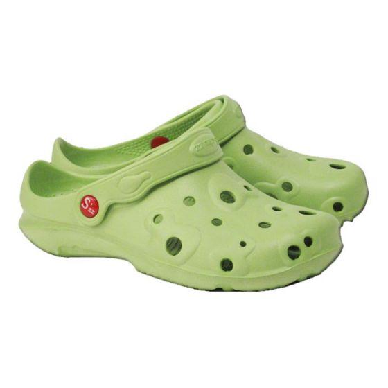 Light green women's Globule clogs