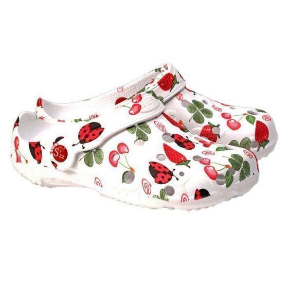 Strawberry women's Globule clogs
