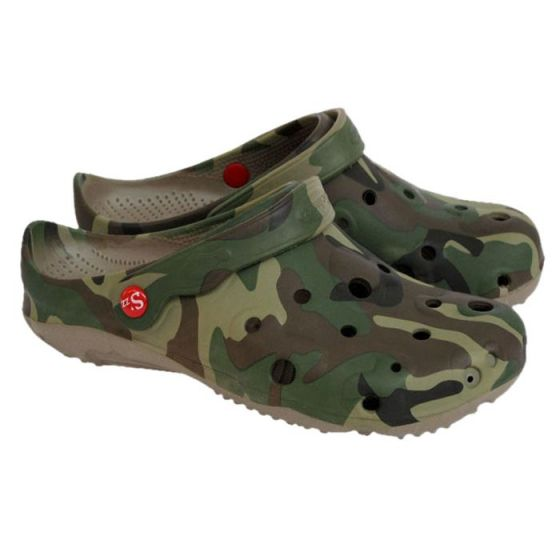 Camouflage men's Globule clogs