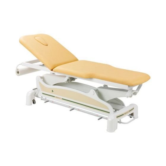 Ecopostural 2 section narrow ended electric table with arm rests C3562M44