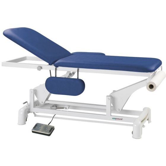 Ecopostural 2 section electric table with arm rests C3550