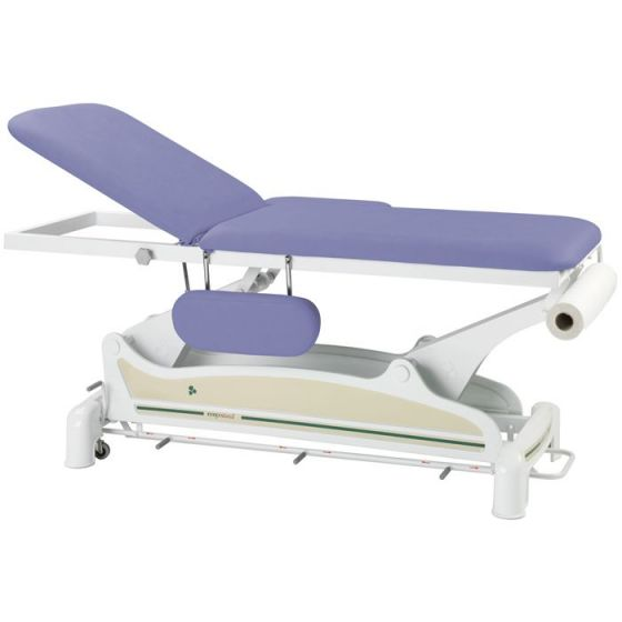 Ecopostural 2 section table, with circular rail foot control C3551