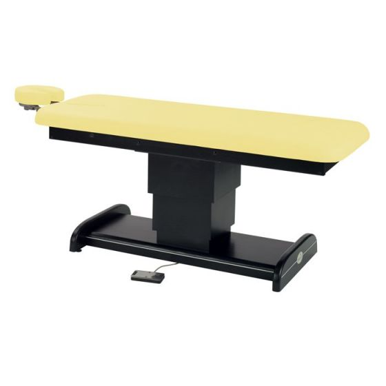 Ecopostural Wenge wood electric table, with central height adjusting tower Ecopostural C6101W