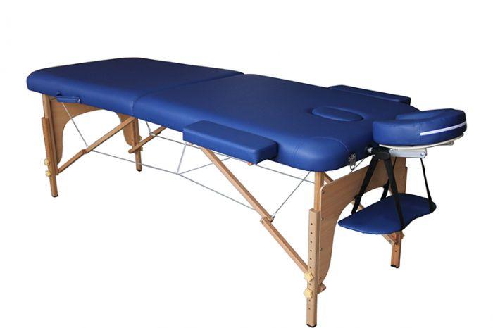 Folding Wood Massage Table in Blue EcoPro Mediprem