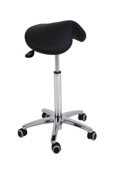 Ecopostural PONY saddle stool with chromium-plated base Ecopostural S3630
