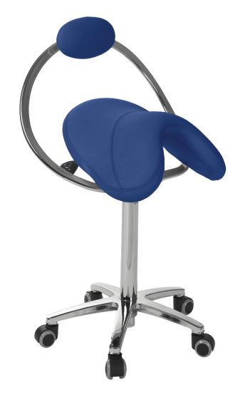 Ecopostural PONY saddle stool with chromium-plated base Ecopostural S5662